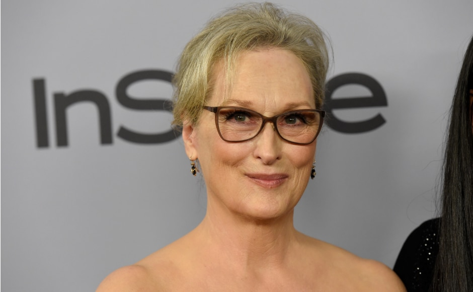 Meryl Streep at the Golden Globe Awards' after party that took place in Beverly Hills, California. Image from AP.