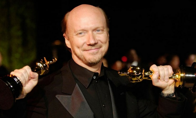Paul Haggis after winning the Academy Awards/Image from Twitter.