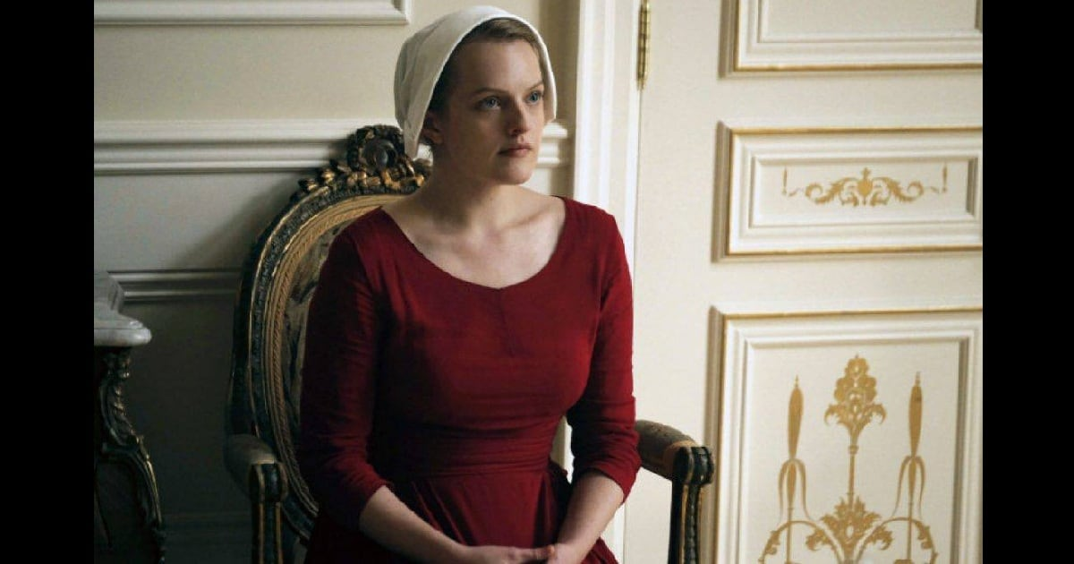Elisabeth Moss in a still from The Handmaid's Tale