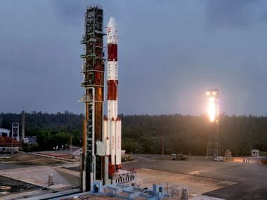 PSLV-C40 on the First Launch Pad. Image: ISRO