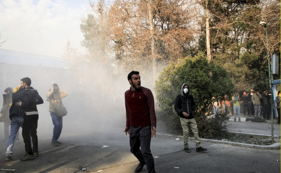 The demonstrations began Thursday in Mashhad, Iran's second-largest city and the home of a famous Shiite shrine. The city is a conservative bastion and a stronghold of Ebrahim Raisi, a cleric who unsuccessfully challenged President Hassan Rouhani in last year's election. AP