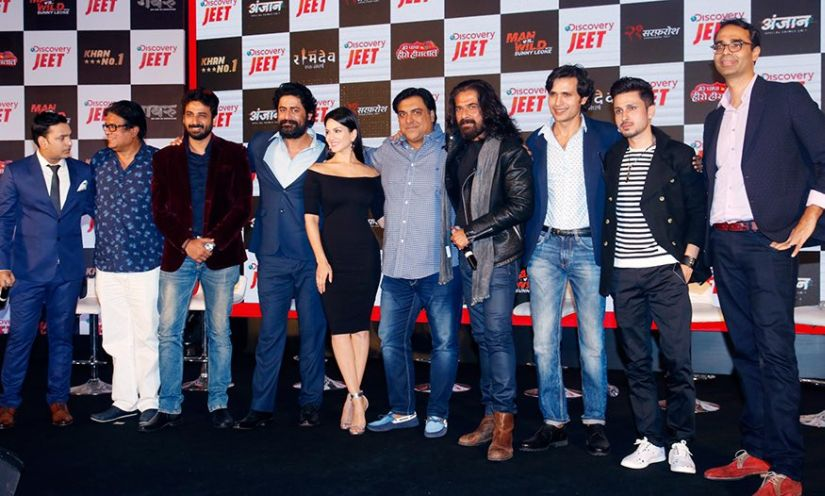 The cast of Discovery JEET show, Gabru, at the launch of the channel