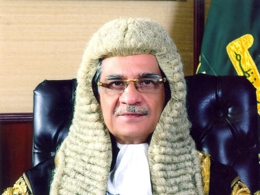 Pakistan's Chief Justice Mian Saqib Nisar. Image courtesy: Pakistan Supreme Court website