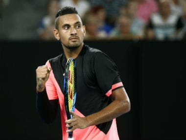 Australia's Nick Kyrgios in action. Reuters