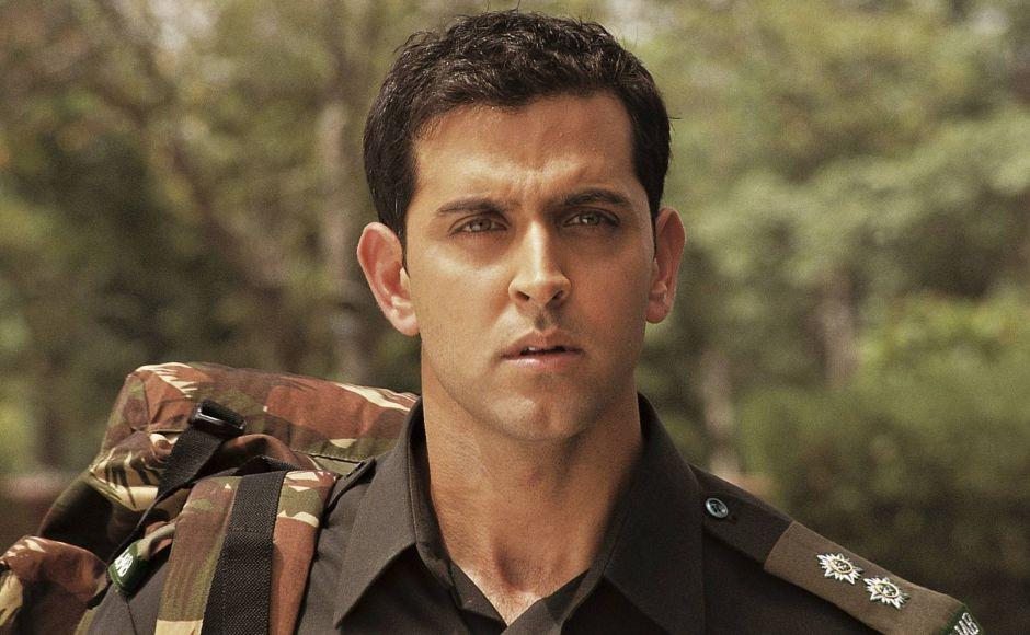 Farhan Akhtar's Lakshya (2004) tellsthe story of Karan Shergill (Hrithik Roshan), a purposeless upper-middle-class brat who matures into a war hero after joining the army. YouTube screengrab