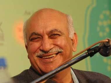 File image of Rajya Sabha MP MJ Akbar. AFP
