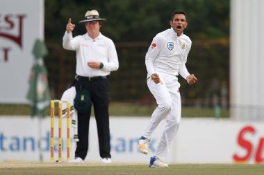 File image of South Africa's Keshav Maharaj. AFP