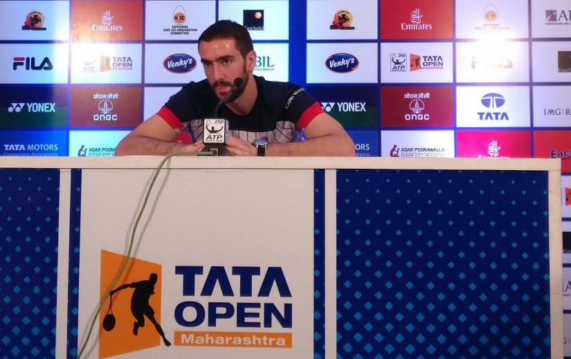 Top seed Marin Cilic during a press conference at the Maharashtra Open. Firstpost/Nikhila Makker