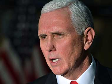 File image of US Vice-President Mike Pence. AP