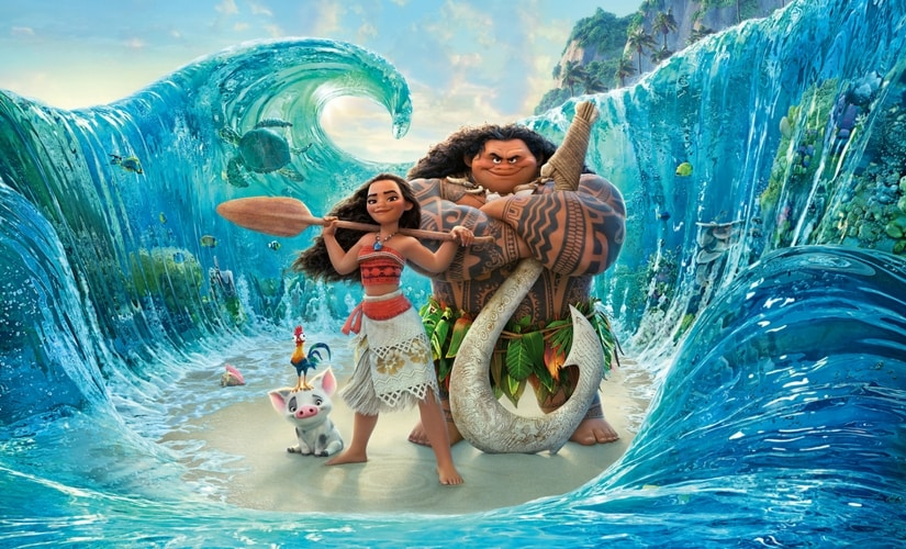 A still from the movie Moana.