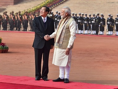 Narendra Modi holds talks with Hun Sen: India, Cambodia agree to enhance maritime cooperation, combat terrorism