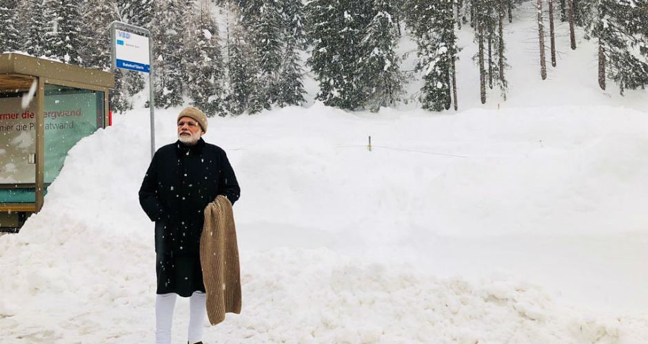 Prime Minister Narendra Modi reached Davos on Monday, becoming the first Indian head of government to attend the World Economic Forum in 20 years. Instagram @narendramodi