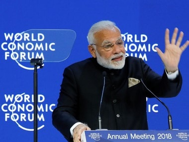 Prime Minister Narendra Modi at the Opening Plenary during the World Economic Forum (WEF) annual meeting in Davos. Reuters