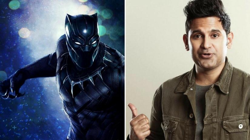 Black Panther poster (left); Manoj Muntashir (right). Facebook/ Manoj Muntashir