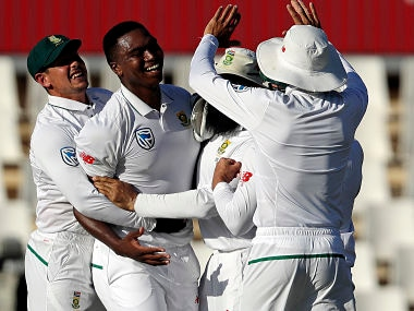 South Africa's Lungi Ngidi's six-wicket haul powered South Africa to series win in Centurion. AP