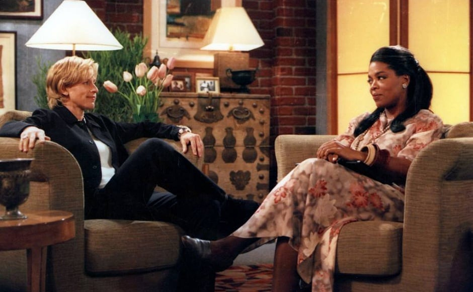 On 30 April, 1997, in what is considered to be a huge leap on television history Ellen DeGeneres came out on Oprah's show. Facebook