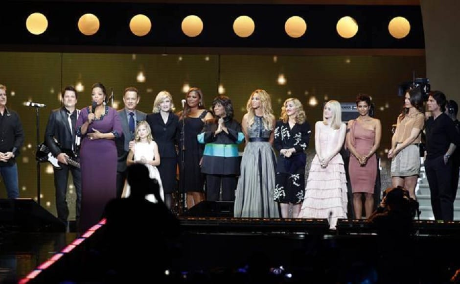 On 23 and 24 May, 2011 — a day before the TV show's finale episode — the who's who of Hollywood stepped in to pay a homage to the TV sensation.From Tom Hanks, Queen Latifah, Beyonce, Madonna, Dakota, Halle Berry, Katie Holmes and Tom Cruise — all marked their presence at the gala. Facebook