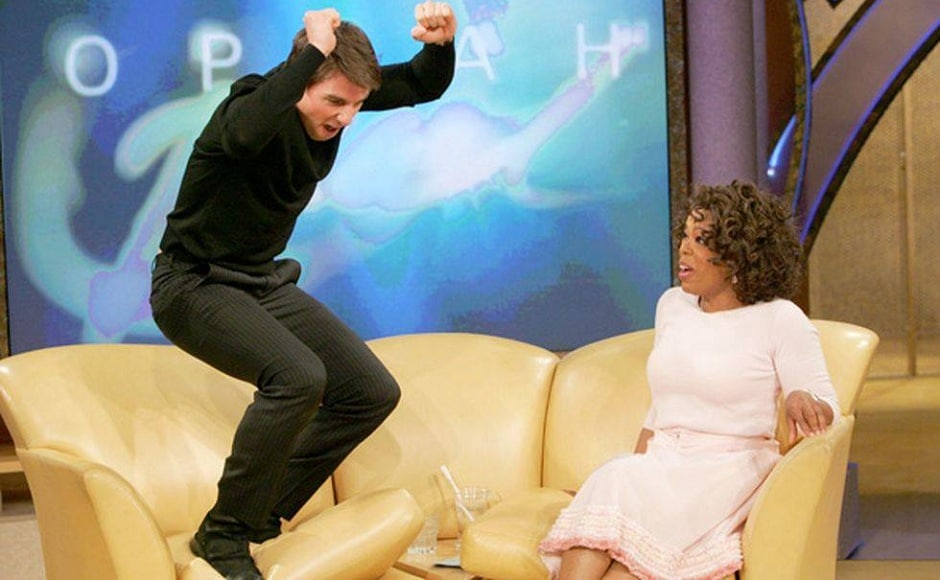 On 23 May, 2005, Hollywood superstar Tom Cruise made an appearance on Oprah's show. While narrating about his then new-found love in Katie Holmes, Cruise got so excited that he jumped on to the couch, thus creating a TV spectacle for years to come. Facebook