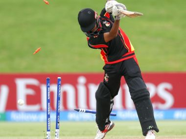 PNG lost to India by 10 wickets on Tuesday. Image credit: ICC