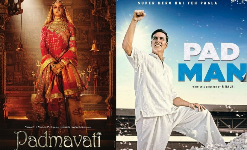 Posters for Padmavati and Pad Man.