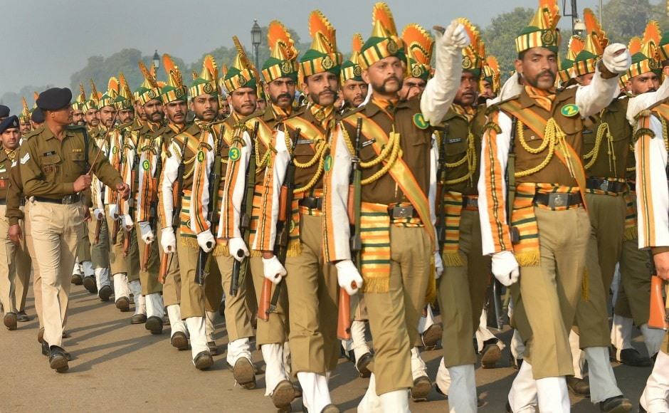 Armed forces are bracing the extreme weather conditions in the National Capital Region (NCR) to rehearse for the Republic Day parade at Rajpath in New Delhi. PTI