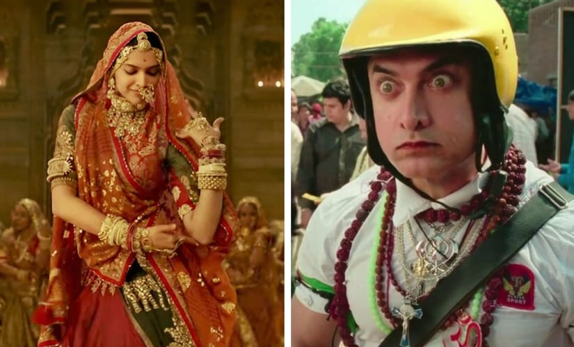 Stills from Padmaavat and PK/Image from YouTube.