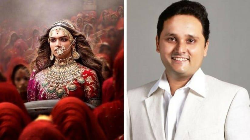 Still from Padmaavat featuring Deepika Padukone as Rani Padmavati (left); Amish Tripathi (right). Facebook