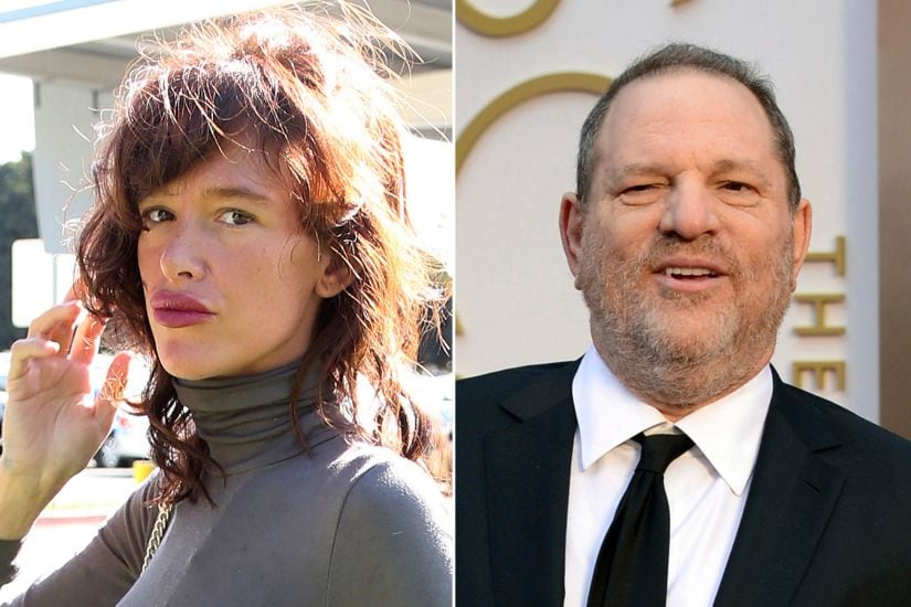 Paz de la Huerta and Harvey Weinstein. Agencies