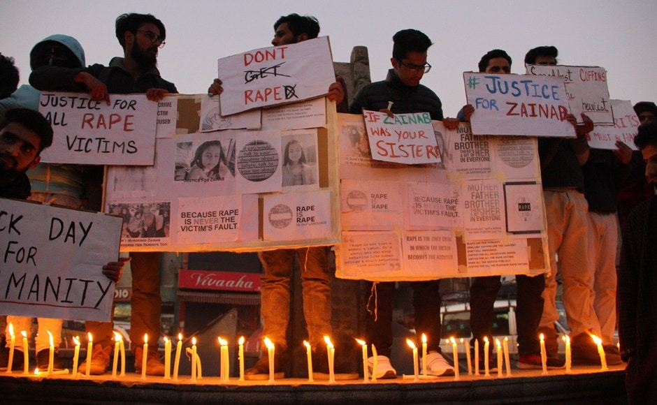 Zainab was kidnapped from near her home on 4 January while her parents were in Saudi Arabia on a pilgrimage. Her uncle reported her missing the next day, police said. An autopsy confirmed that the child was strangled and sodomized. The reports also show signs of torture. Firstpost/ Sameer Mushtaq