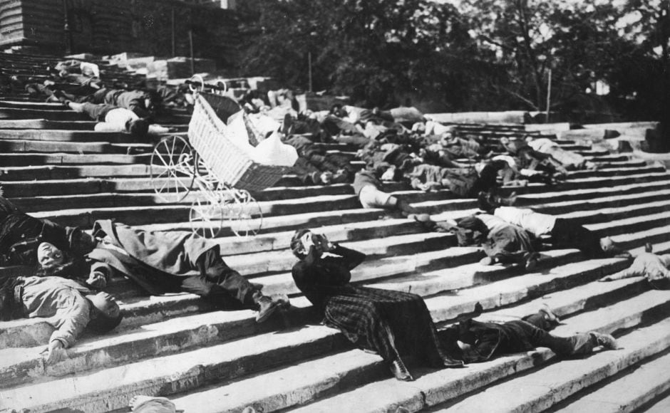 Based on the Revolution of 1905, Eisenstein's Battleship Potemkin was his most famous film and is considered a masterpiece to this day. The Odessa Steps sequence is one of the most terrifying and extraordinary scenes in cinematic history. Image via Twitter