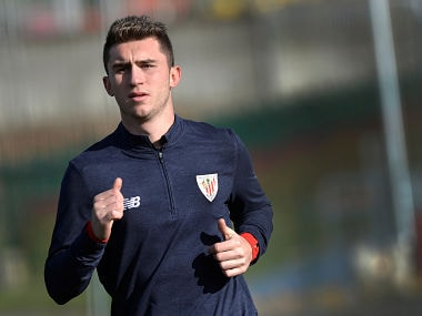 Athletic Bilbao's French defender Aymeric Laporte trains at Lezama training ground, near Bilbao, Spain January 27, 2018. Manchester City have agreed on a club record 57 million pound (80 million dollars) deal for Laporte, according to local media. REUTERS/Vincent West - RC1594D43220