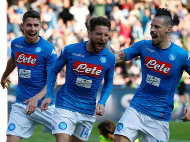 Serie A: Dries Mertens brace helps Napoli regain top spot from Juventus, AC Milan edge past Lazio