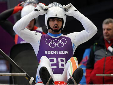India's Shiva Keshavan prepares for the start during the men's luge training at the Sanki sliding center in Rosa Khutor, a venue for the Sochi 2014 Winter Olympics near Sochi February 5, 2014. REUTERS/Fabrizio Bensch (RUSSIA - Tags: SPORT LUGE OLYMPICS) - LM2EA250X3Z8Q