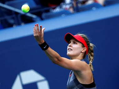 Tennis - US Open - New York, U.S. - August 30, 2017 - Eugenie Bouchard of Canada in action against Evgeniya Rodina of Russia in their first round match. REUTERS/Mike Segar - RC1B7321BE00