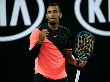 Tennis - Australian Open - Rod Laver Arena, Melbourne, Australia, January 21, 2018. Australia's Nick Kyrgios reacts during his match against Bulgaria's Grigor Dimitrov. REUTERS/Thomas Peter - HP1EE1L0RWNU8