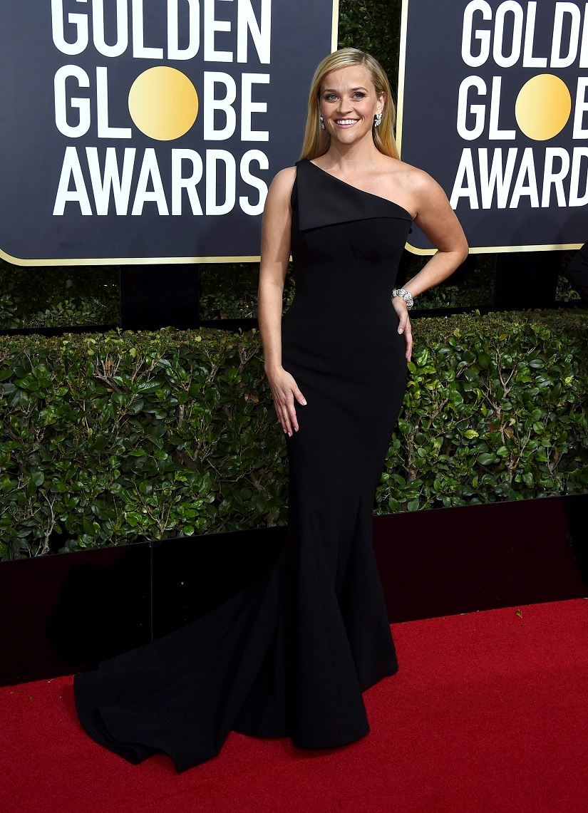 Reese Witherspoon at the 75th Golden Globe Awards. Image from AP.