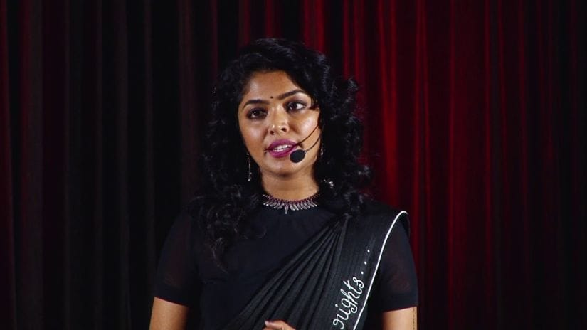 """Rima Kallingal during her TEDx Talk """"Changing Gender Discrimination in the Movie Industry"""". YouTube screengrab"""