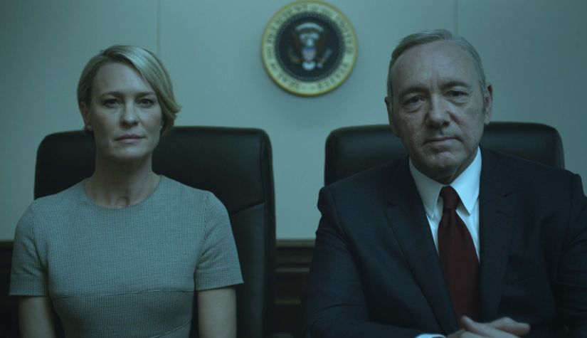 Robin Wright and Kevin Spacey in House of Cards. Netflix