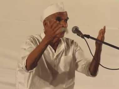 File image of Sambhaji Bhide. YouTube screengrab