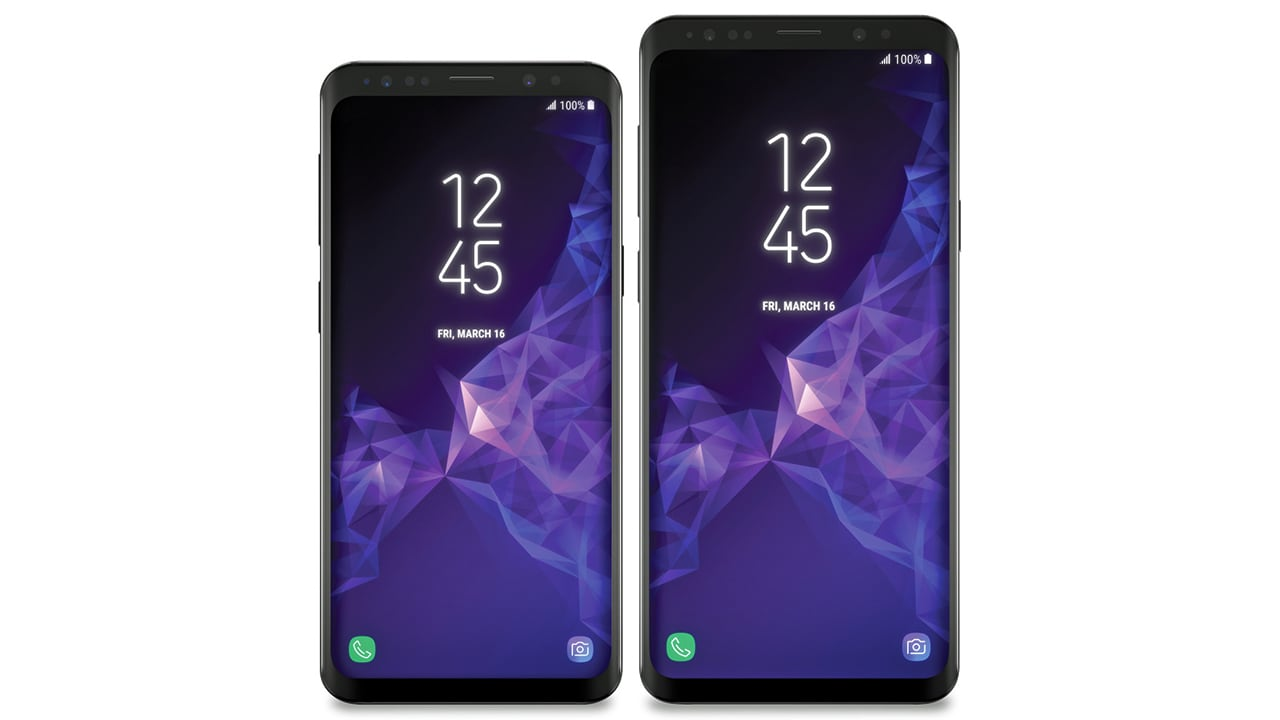 Leaked images of the Samsung Galaxy S9 and S9+. Image: Venturebeat