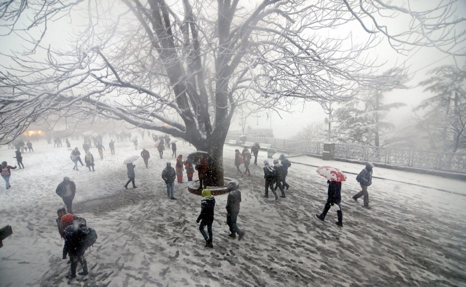 The capital of Himachal Pradesh, Shimla, and its surrounding areas received snowfall, while mid and lowers hills witnessed scattered rains. Cold waves have also been sweeping across North India with high-altitude areas experiencing snowfall and lower parts receiving rains. PTI