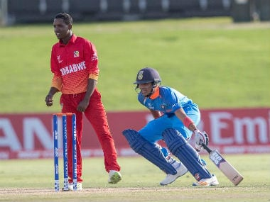 India's Shubman Gill in action against Zimbabwe in the U-19 World Cup. ICC