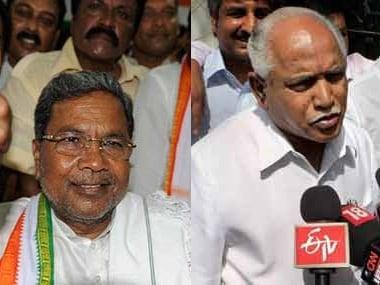 File images of Siddaramaiah and BS Yeddyurappa. Agencies