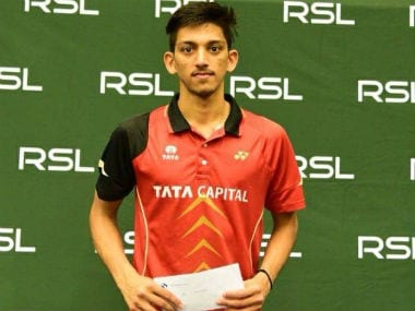 Siddharth Pratap Singh poses after winning the Swedish Open Junior International Series. Twitter: @OGQ_India