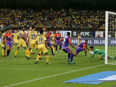 during match 38 of the Hero Indian Super League between Kerala Blasters FC and FC Pune City held at the Jawaharlal Nehru Stadium,Kochi India on the 4th January 2018 Photo by: Faheem Hussain / ISL / SPORTZPICS
