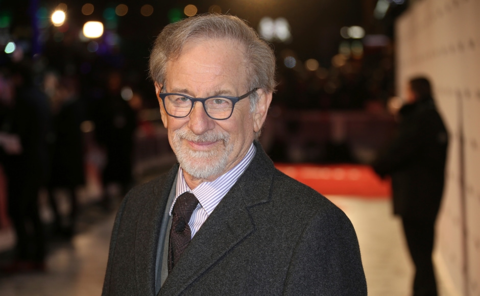 Steven Spielberg at the 10 January premiere of his directorial venture The Post. Image from AP.