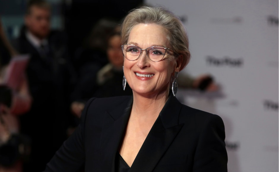 Meryl Streep attended the Britain premiere of her film The Post held in London. Image from AP.