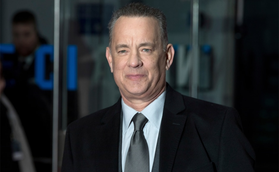 Tom Hanks at the premiere of his film. Image from AP.