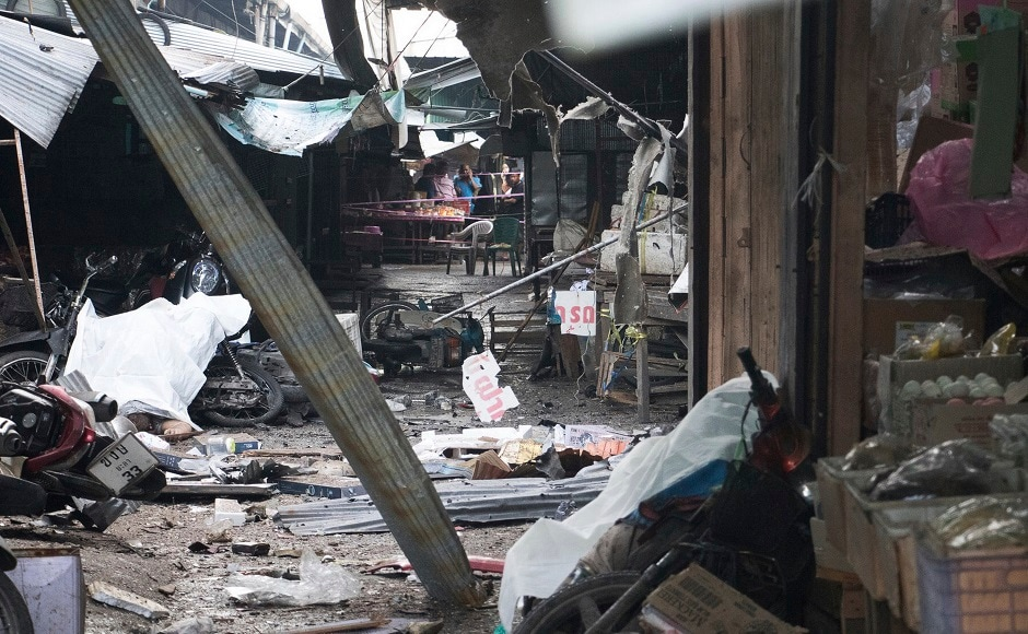 A motorcycle bomb exploded in a market in Thailand's southern Yala province on Monday, killing three people and wounding 22. AP