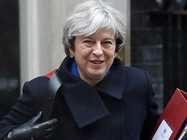 File image of Britain's Prime Minister Theresa May. AP